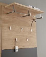 Předsíňový nábytek ACHAT_detail šatního panelu_obr. 13