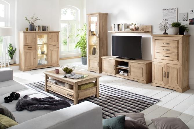 AMBRA - sestava celomasivního dubového nábytku
