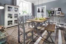 Obývací a jídelní nábytek ANTIC grey v kombinací s ANTIC white v interieru_obr. 2