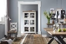 Obývací a jídelní nábytek ANTIC grey v kombinací s ANTIC white v interieru_obr. 4