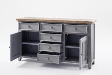 Obývací a jídelní nábytek ANTIC grey_komoda typ 01_otevřená_obr. 20