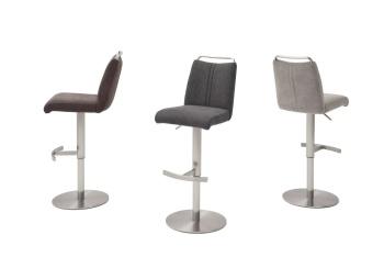 Barová židle GAMMA I._látka / imitace kůže / pravá kůže