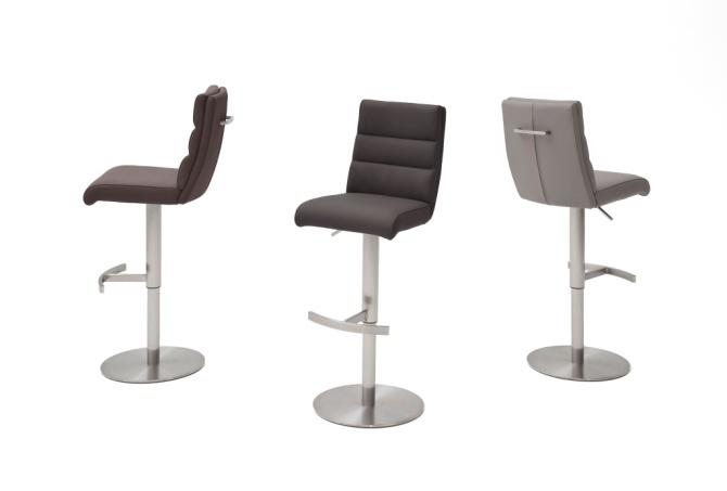 Barová židle GAMMA II._látka / imitace kůže / pravá kůže