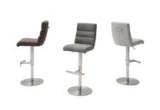 Barová židle GAMMA II_látka Romeo_barevná škála_kruhová nerezová podnož_obr. 5