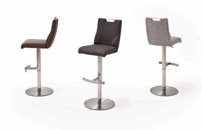Barová židle GAMMA III._látka / imitace kůže / pravá kůže