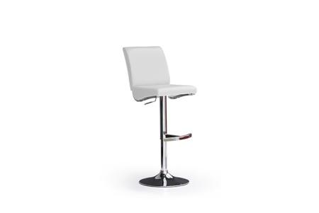 Barová židle LARA I_imitace kůže bílá_podnož chromovaná kulatá_obr. 2