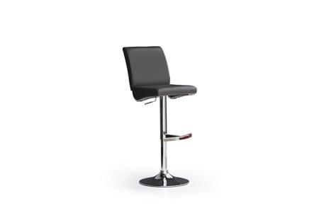 Barová židle LARA I_imitace kůže černá_podnož chromovaná kulatá_obr. 3