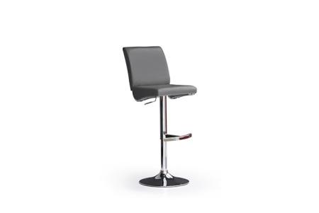 Barová židle LARA I_imitace kůže šedá_podnož chromovaná kulatá_obr. 4
