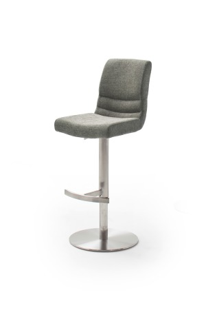 Barová židle MAYLAND, látka_vzhled žinilka šedá_podnož kulatá nerez broušený_obr. 6