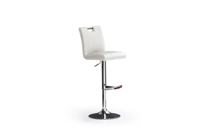 Barová židle MIA I._chrom, kruh, imitace kůže
