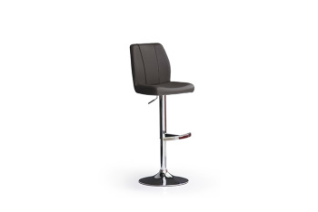 Barová židle NINA I._chrom, kruh, imitace kůže