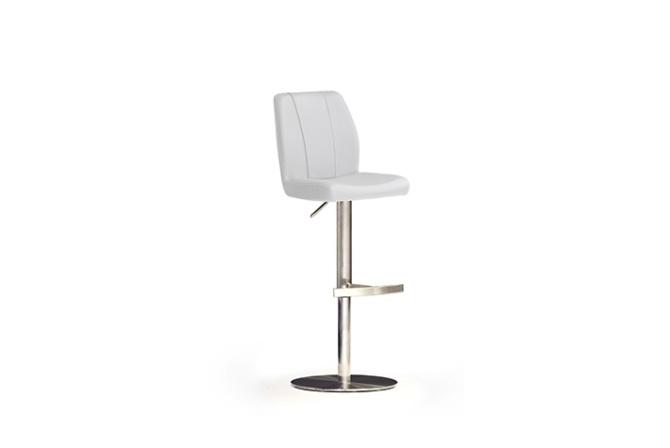 Barová židle NINA II._nerez, kruh, imitace kůže
