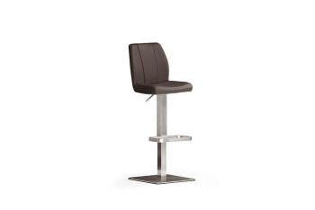 Barová židle NINA IV._nerez, čtverec, imitace kůže