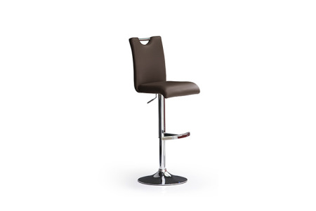 Barová židle SOUL I_ imitace kůže hnědá_podnož chromovaná kruh_obr. 3
