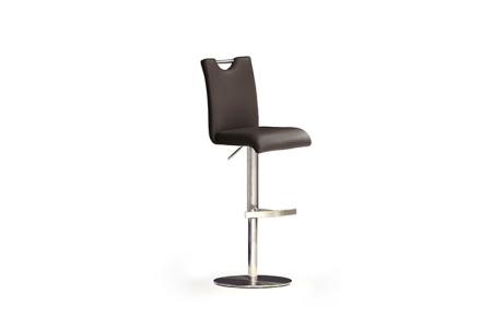 Barová židle SOUL II, imitace kůže hnědá_podnož nerez kruh_obr. 4