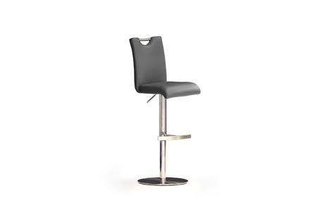 Barová židle SOUL II, imitace kůže šedá_podnož nerez kruh_obr. 5