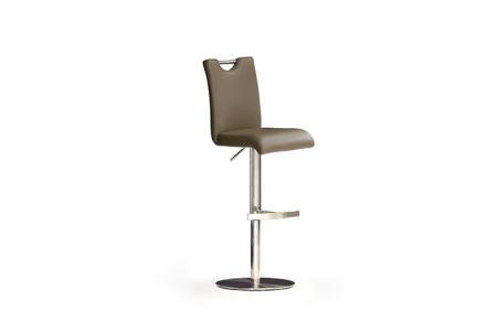 Barová židle SOUL III_ pravá kůže cappuccino_podnož nerez kruh_obr. 2