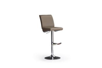 Barová židle VICKY I._chrom, kruh, imitace kůže