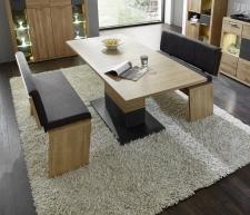 Jídelní nábytek BASE_jídelní stůl 29 32 H1 01 rozložený  + 2x lavice 29 26 H1 04 (table serie 1)_obr. 24