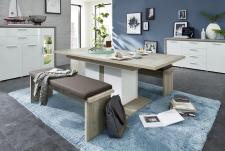 Obývací / jídelní nábytek CARIA_jídelní stůl rozložený 29 E5 HW 01 + 2x lavice 29 E5 HW + typy  03 + 20 + 22_obr. 14