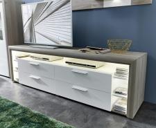 Obývací nábytek CARIA_detail LED osvětlení TV-spodních dílů_obr. 15