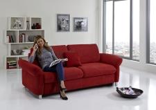 Sofa s funkcí na spaní COMFORT SLEEP_šířka sedáku 162 cm, područky tap 21, vzhled polštářů typ A, korpus typ A, plocha na spaní 148 x 200 cm_v látce Kati bordeaux_obr. 5