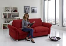Sofa s funkcí na spaní COMFORT SLEEP_šířka sedáku 162 cm, područky tap 21, vzhled polštářů typ A, korpus typ A, plocha na spaní 148 x 200 cm_v látce Kati bordeaux_obr. 9