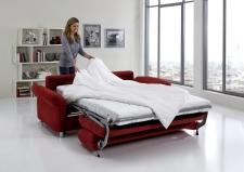 Sofa s funkcí na spaní COMFORT SLEEP_šířka sedáku 162 cm, područky tap 21, vzhled polštářů typ A, korpus typ A, plocha na spaní 148 x 200 cm_v látce Kati bordeaux_obr. 15