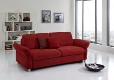 Sofa s funkcí na spaní COMFORT SLEEP_šířka sedáku 162 cm, područky typ 21, vzhled polštářů typ A, korpus typ A, plocha na spaní 148 x 200 cm_v látce Kati bordeaux_obr. 31