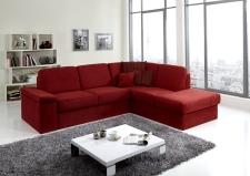 Sedací souprava COMFORT SLEEP_sofa 142 cm s funkcí na spaní + ottoman pravý_v látce Kati bordeaux (skup. 11)_obr. 35