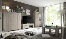 Obývací / jídelní nábytek CONTE II_volná sestava elementů_jilm světlý imitace_obr. 4