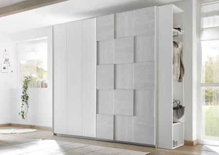 Šatní skříň s posuvnými dveřmi ESPERO (3D-optika) 243x230 cm_regál na šaty s 2 policemi a tačí na ramínka_typy 671705-243-A_674502-42_obr. 12