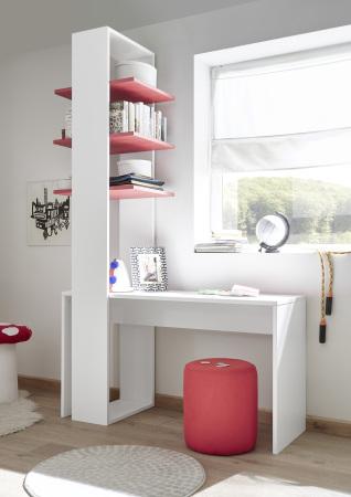 Psací stůl ESPERO 138 cm_ regál s 3 policemi, v. 230 cm_typy 671702-1380_676602-53_obr. 21