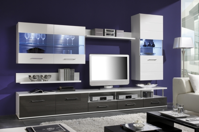 DUAL - obývací stěna + sideboard