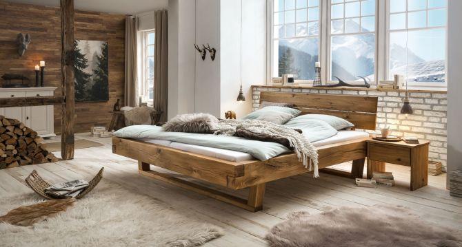Dubová masivní postel JANE