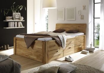 Celomasivní postel s úložnými prostory ELENA