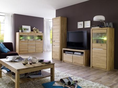 Obývací stěna FLORENZ s vysokým TV-spodním dílem + konf. stůl 50 + Highboard 48
