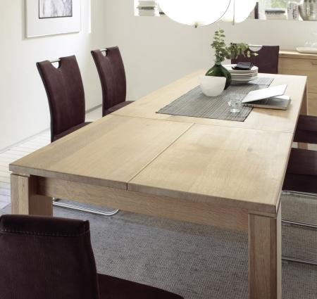 Rozkládací Jídelní stůl UNIVERSAL L-08201-EXT_180 (260) cm_divoký dub Bianco masiv