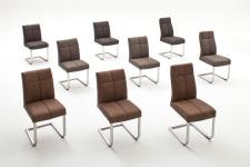 Jídelní židle FONTE_varianty A,B,C_imitace kůže strukturovaná_hnědá, šedá, kaštan