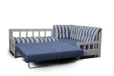 Sedací souprava CAMPUS 2F-1ESK s funkcí na spaní a úložným prostorem (zásuvkou), rozložená