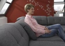 Sedací souprava ISOLA - nastavení hloubky sedáku