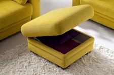 Sedací souprava MODENA 1040_taburet s úložným prostorem_ v látce Hudson yellow
