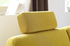 Sedací souprava MODENA 1040_volně přemístitelná opěrka hlavy_v látce Hudson yellow