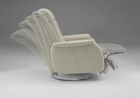 Relaxační křeslo SWING LINE, záda C, područky 3, kůže 120 Vivre ecru, obr. 2