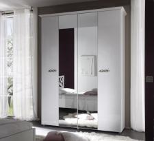 Šatní skříň 4 dveřová s 2-mi zrcadlovými dveřmi AMBROSIA