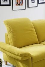 Sedací souprava ONTARIO 1031_polohování opěrek hlavy_područka B_v látce Easy care Yellow (3)