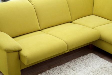 Sedací souprava ONTARIO 1031_komfortní lůžko_v látce Easy care Yellow