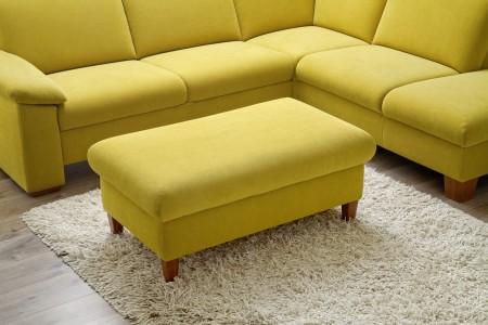 Sedací souprava ONTARIO 1031_taburet_v látce Easy care Yellow