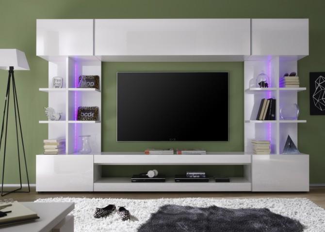 Obývací / TV stěna TRES, čelní pohled