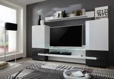 Obývací TV stěna MEDIA X1, šikmý pohled